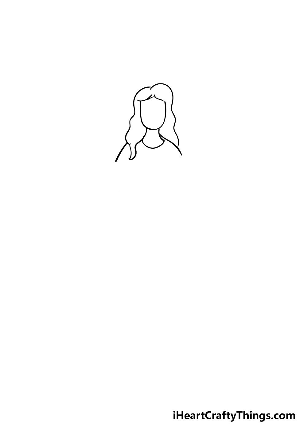 angel drawing step 2
