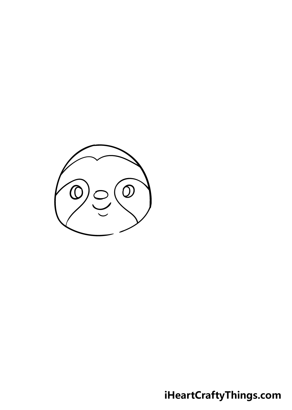 sloth drawing step 2