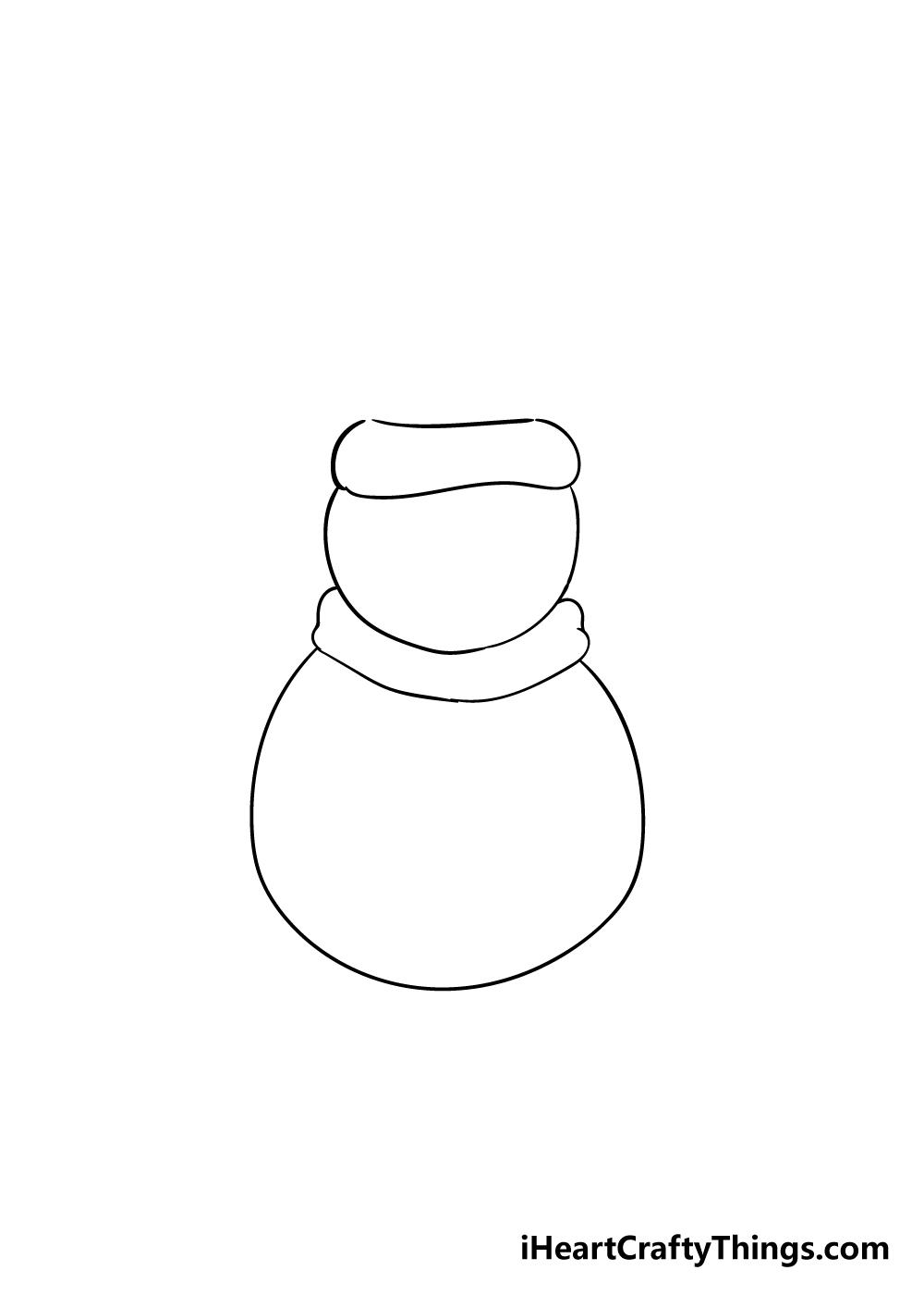 snowman drawing step 2