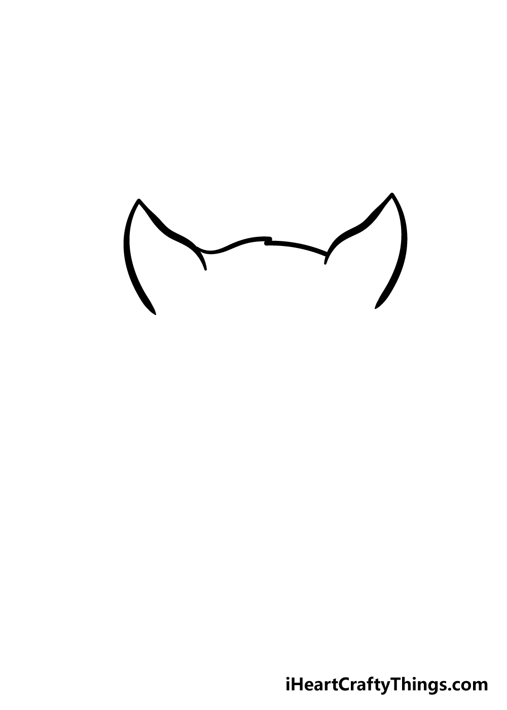 cat face drawing step 2