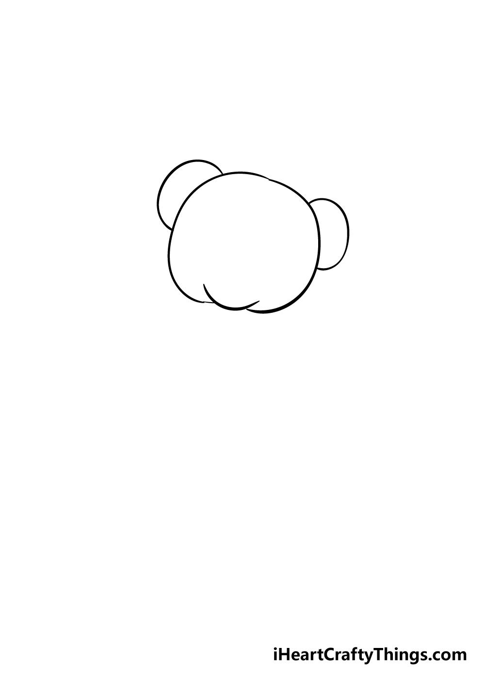 teddy bear drawing step 2