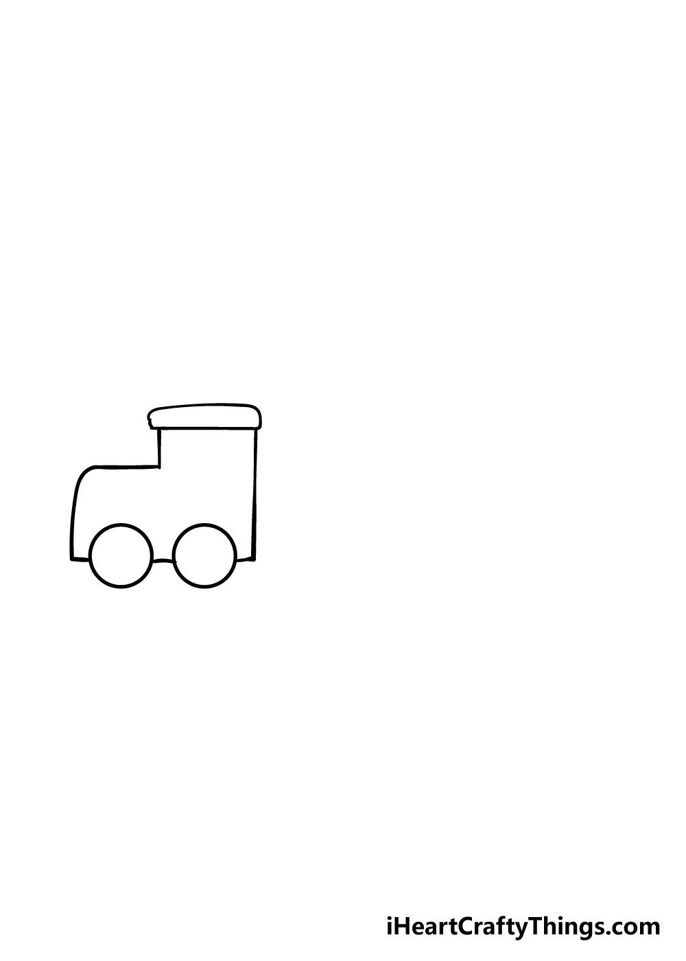 train drawing step 2