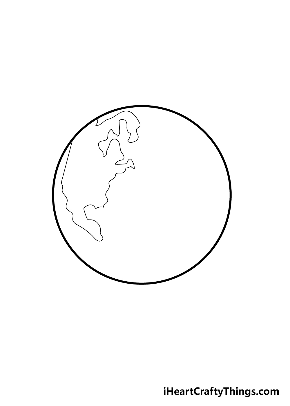 earth drawing step 2