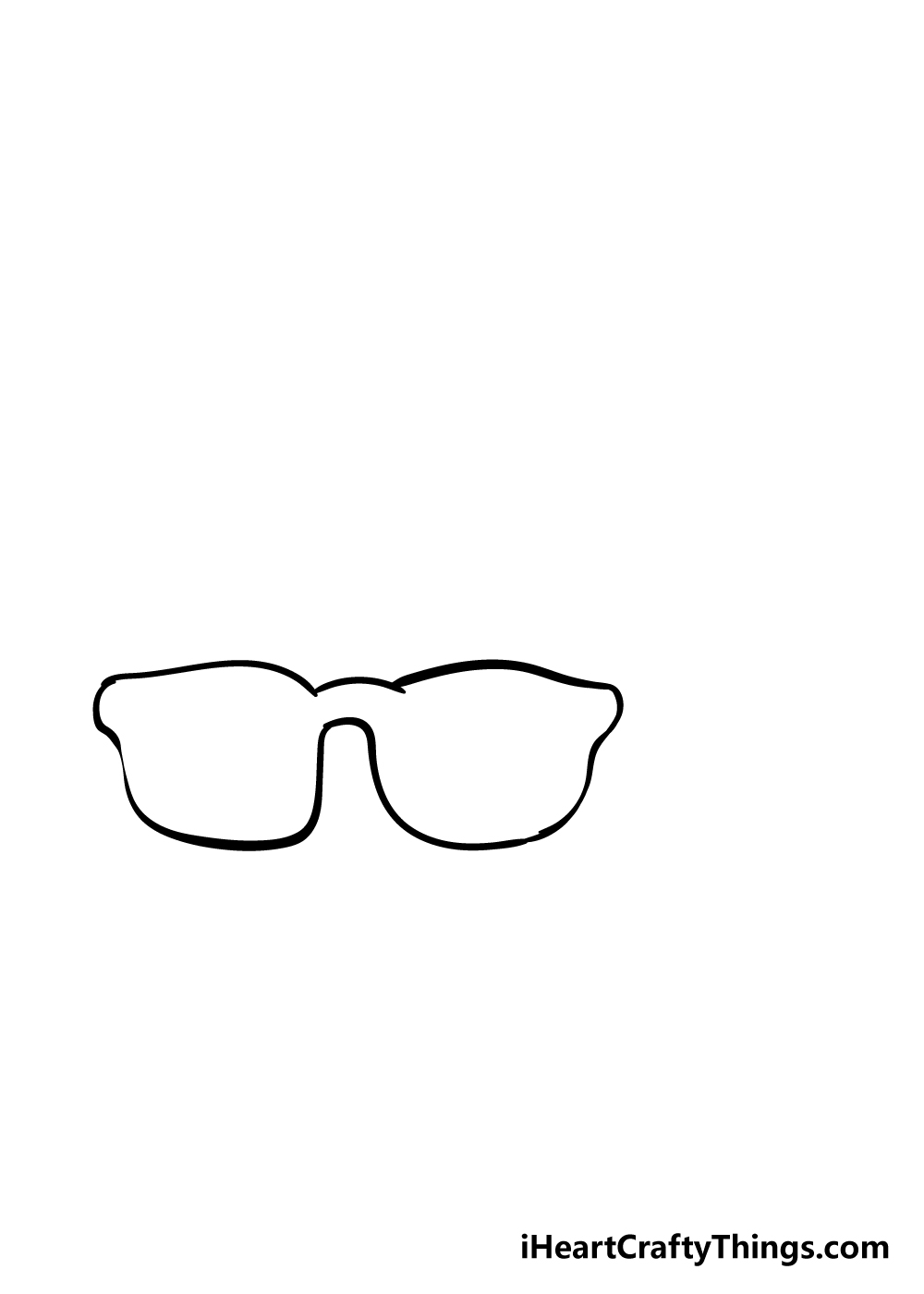 glasses drawing step 2