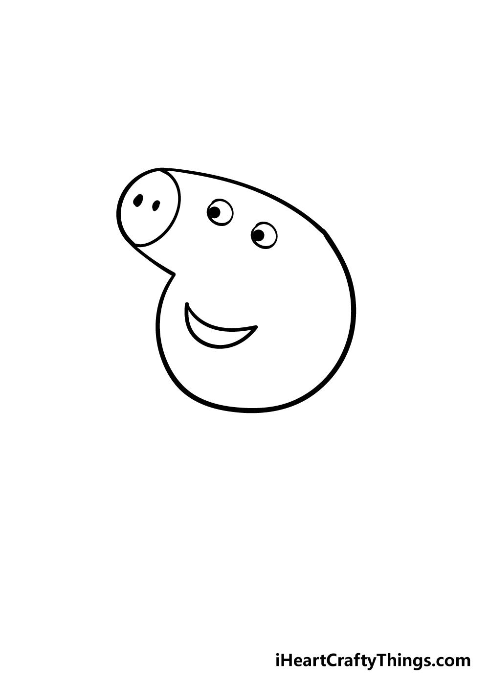 peppa pig drawing step 2