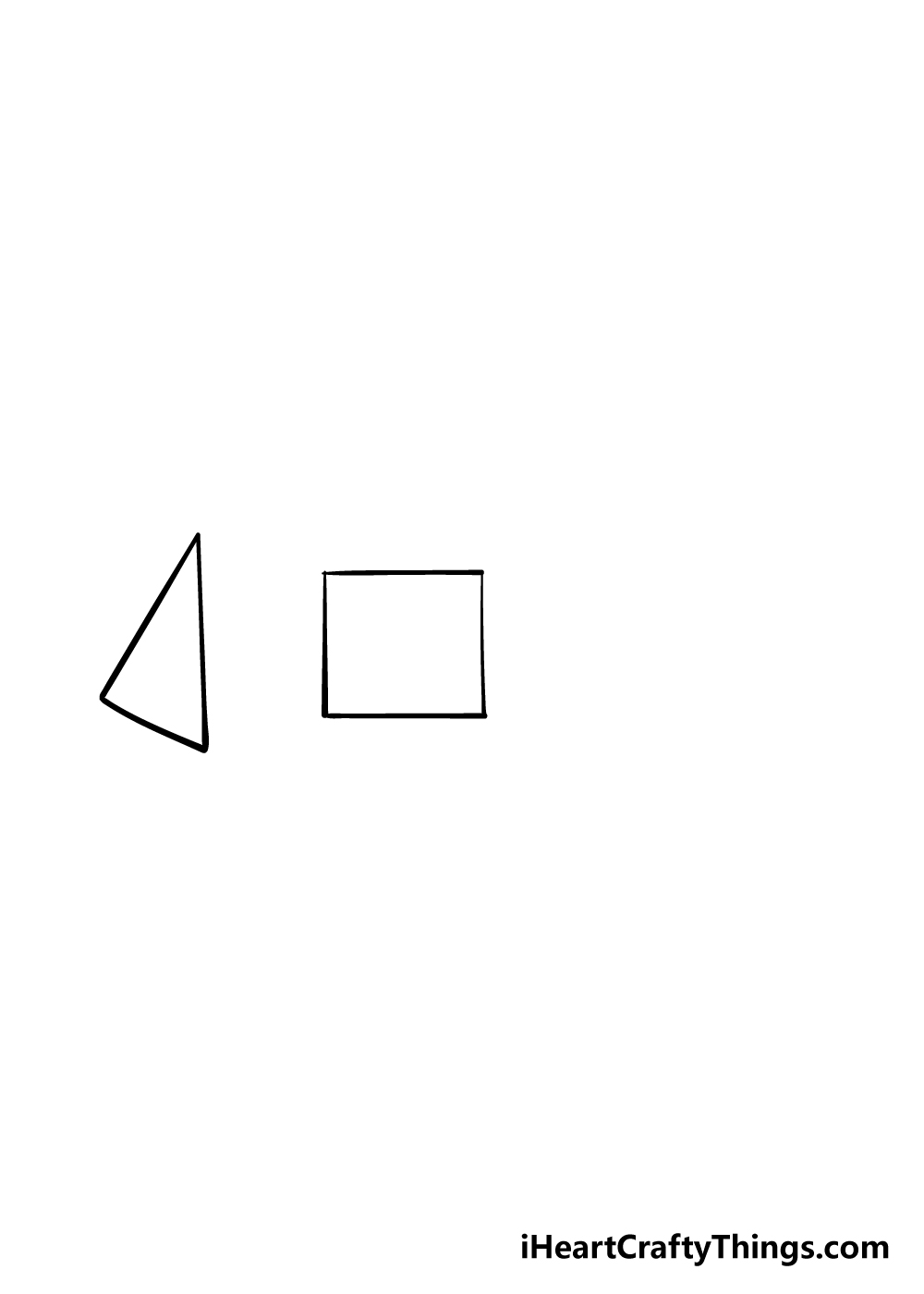3D shapes drawing step 2