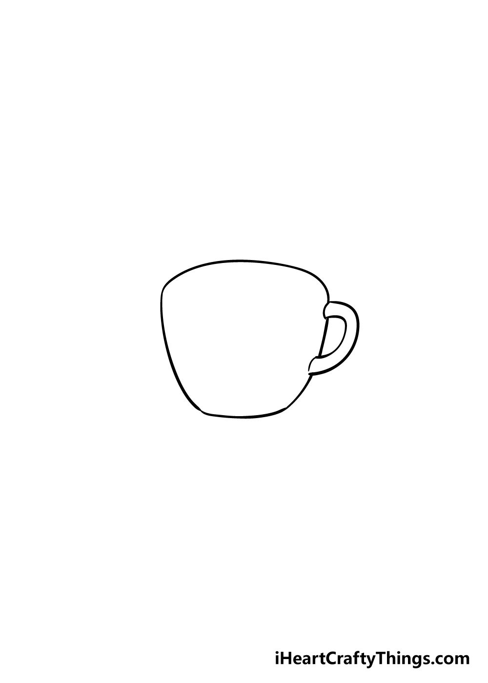 coffee cup drawing step 2