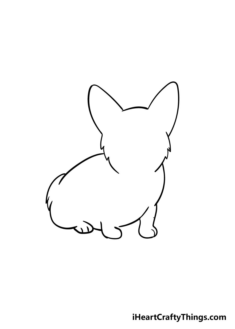 corgi drawing step 2