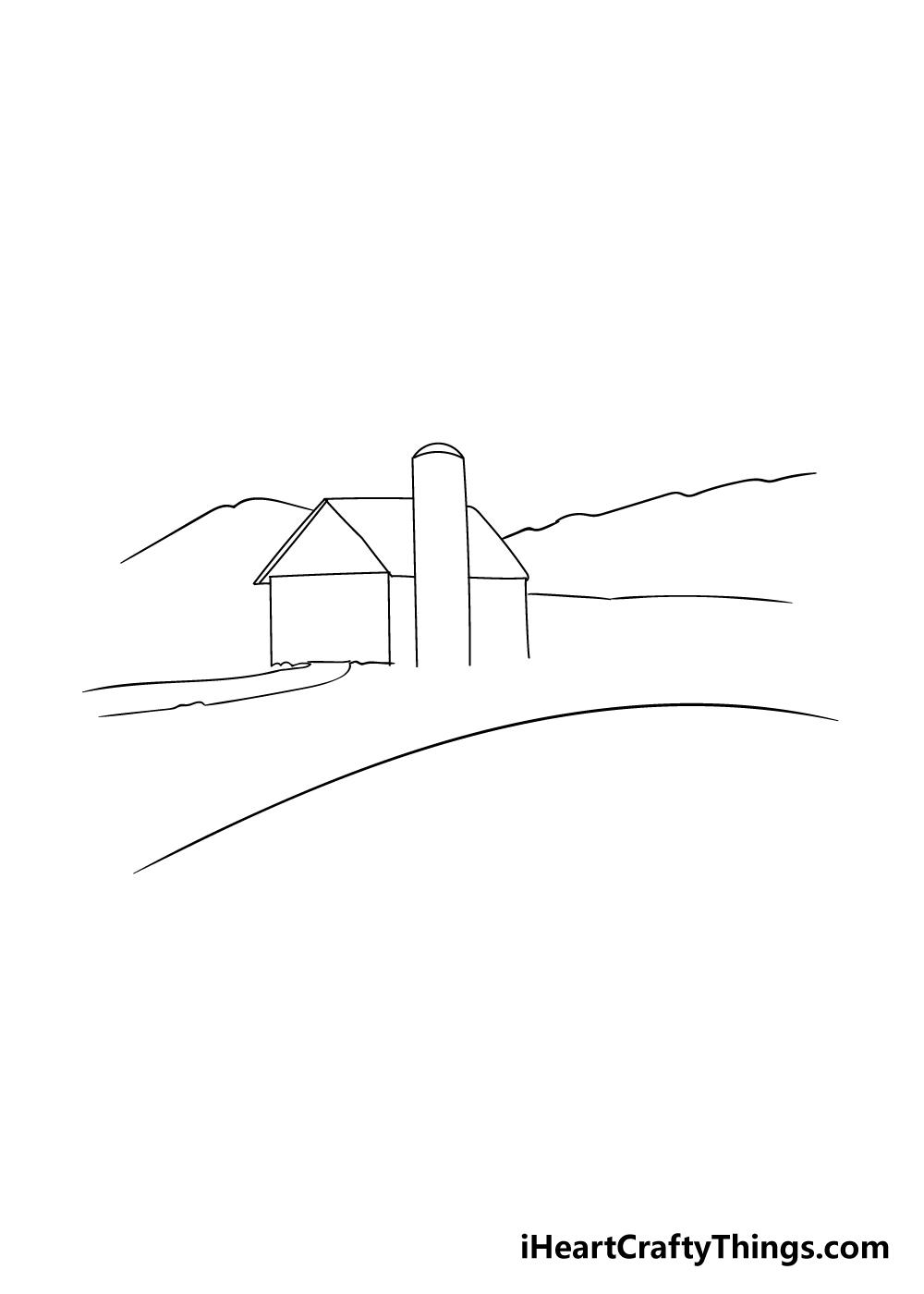 farm drawing step 2