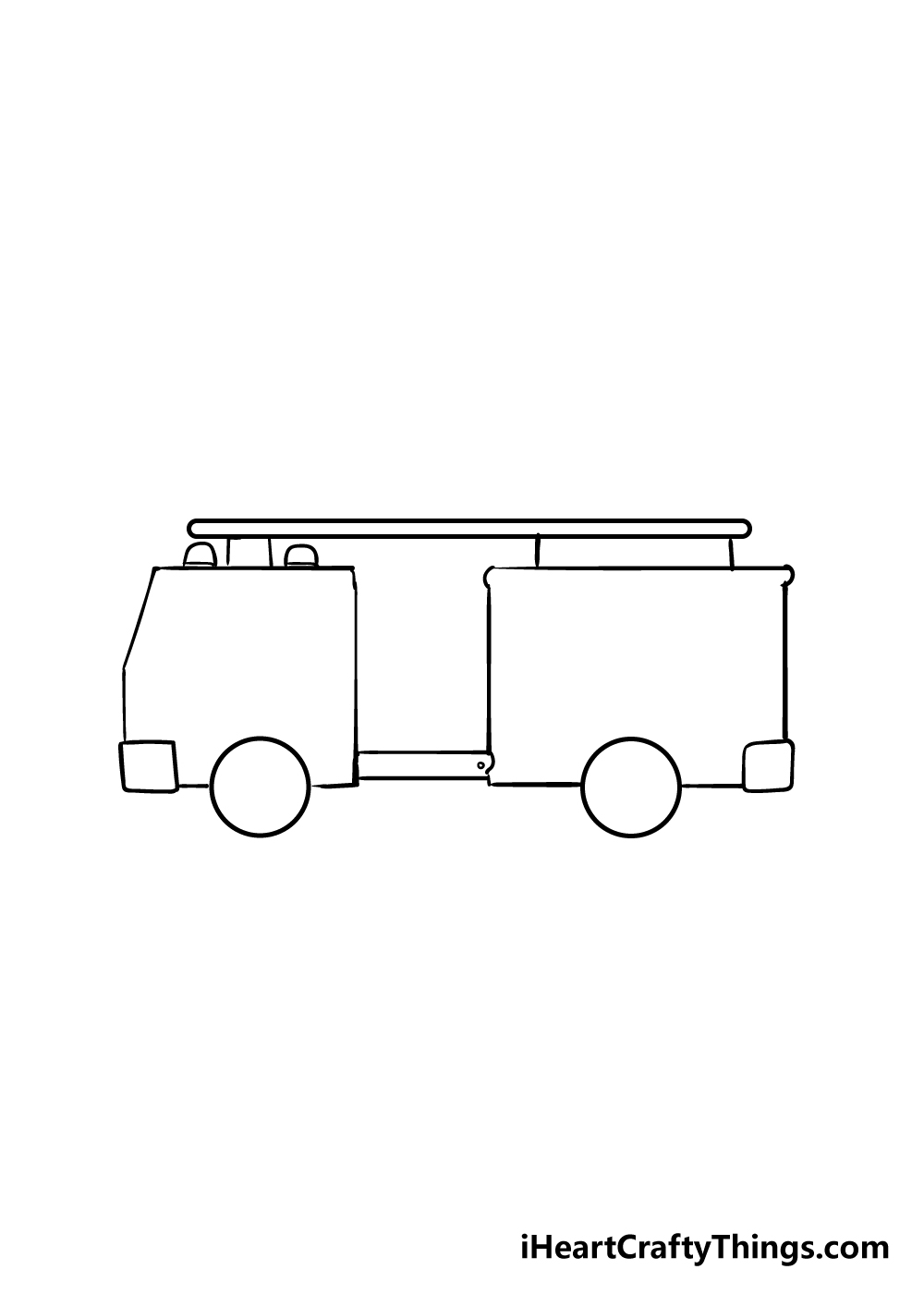 fire truck drawing step 2