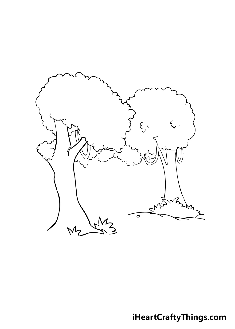 forest drawing step 2
