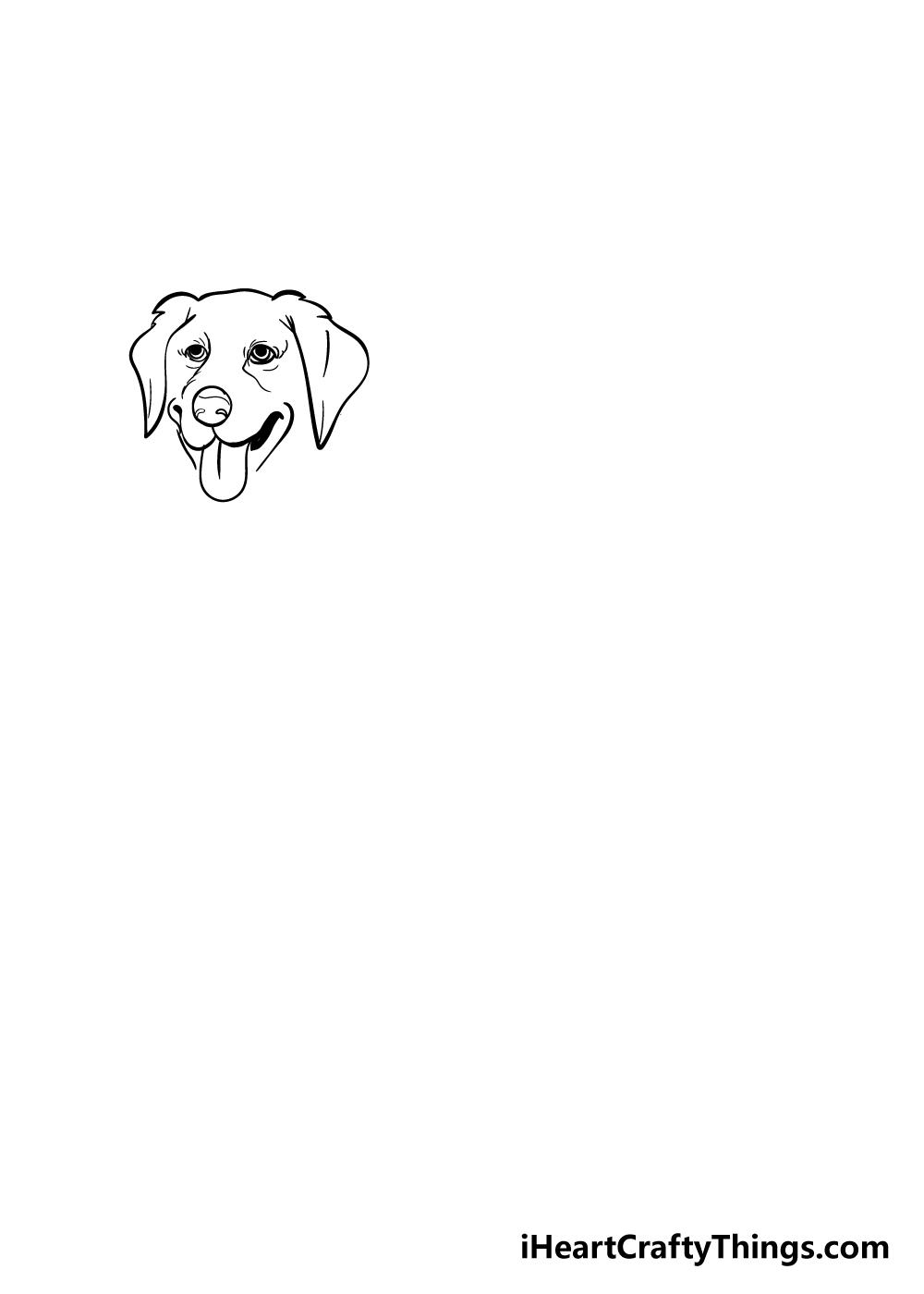 golden retriever drawing step 2