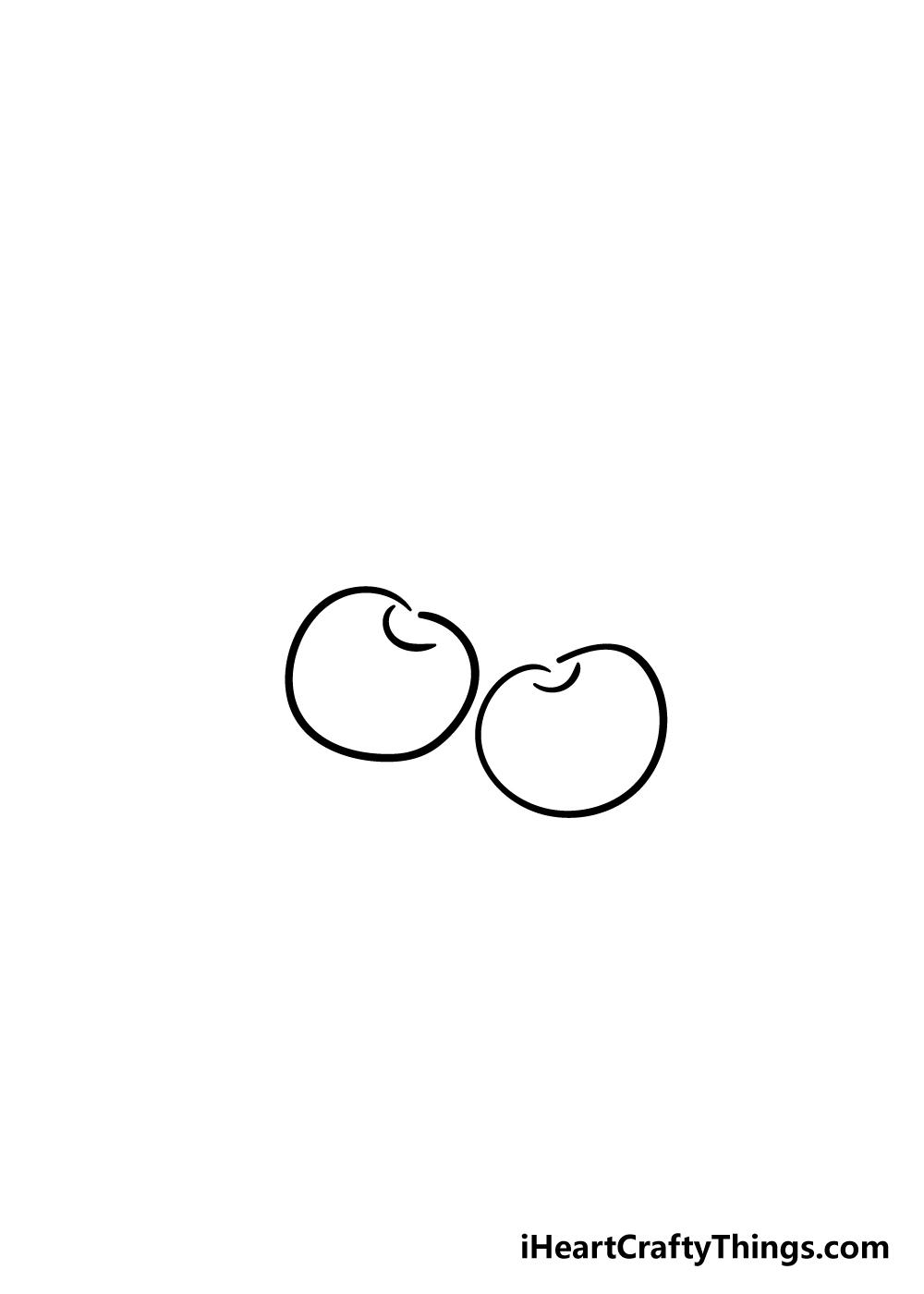 cherry drawing step 2