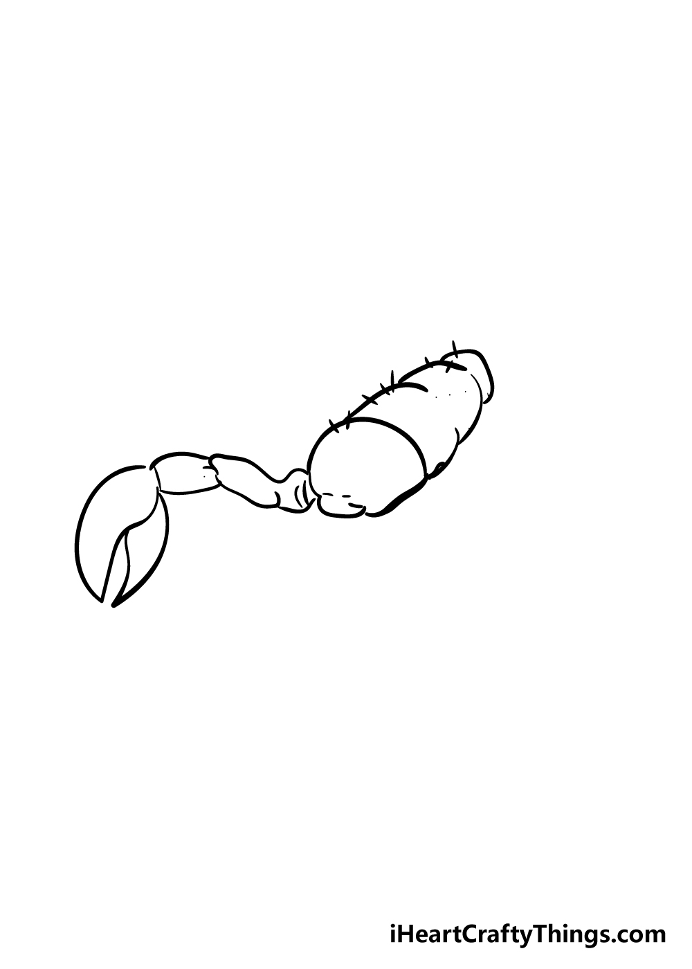 scorpion drawing step 2