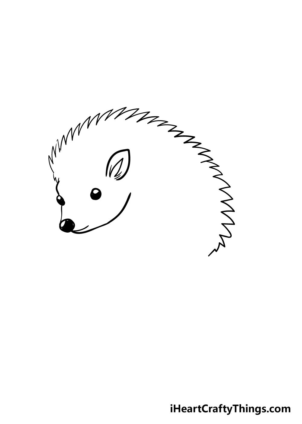 hedgehog drawing step 2