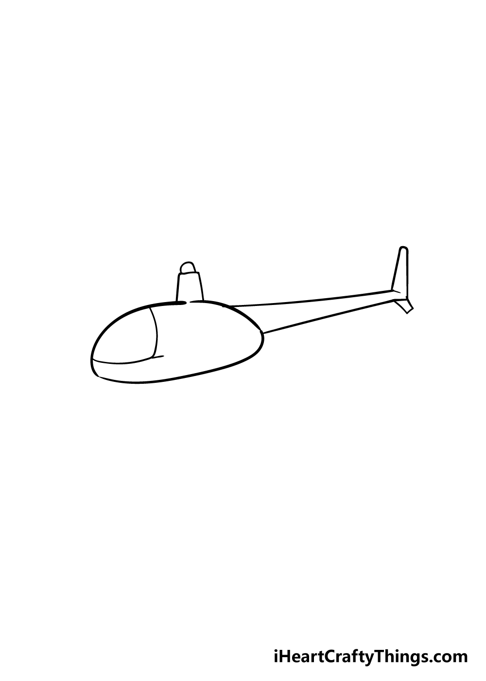 helicopter drawing step 2