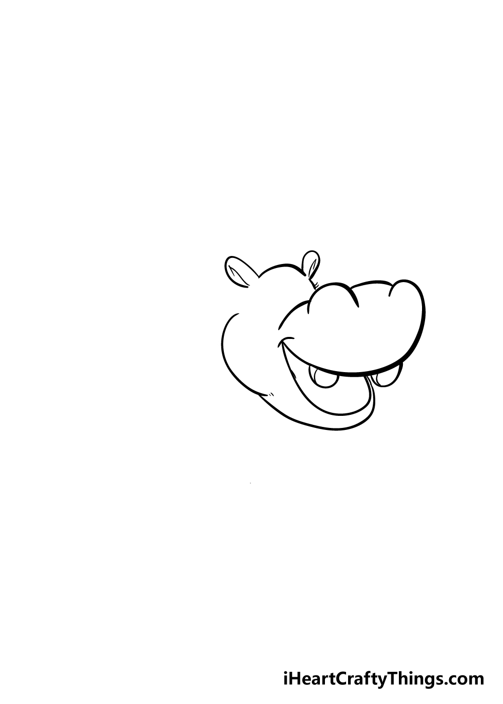 hippo drawing step 2