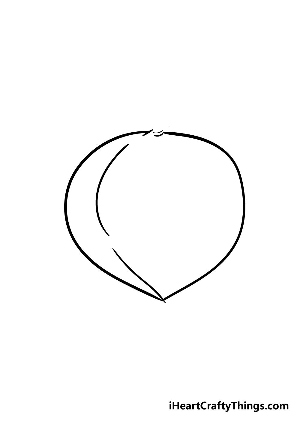 peach drawing step 2