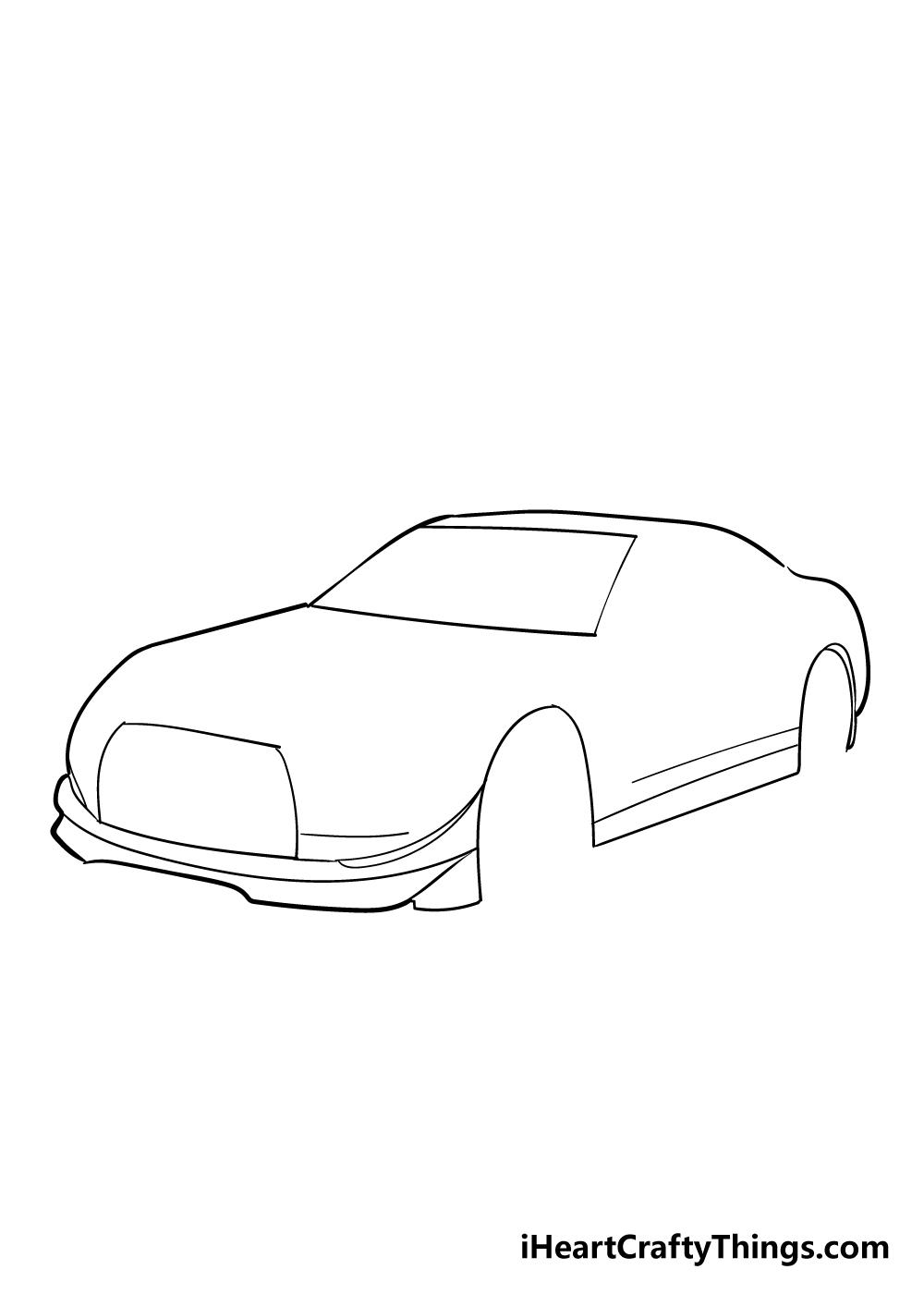 racecar drawing step 2