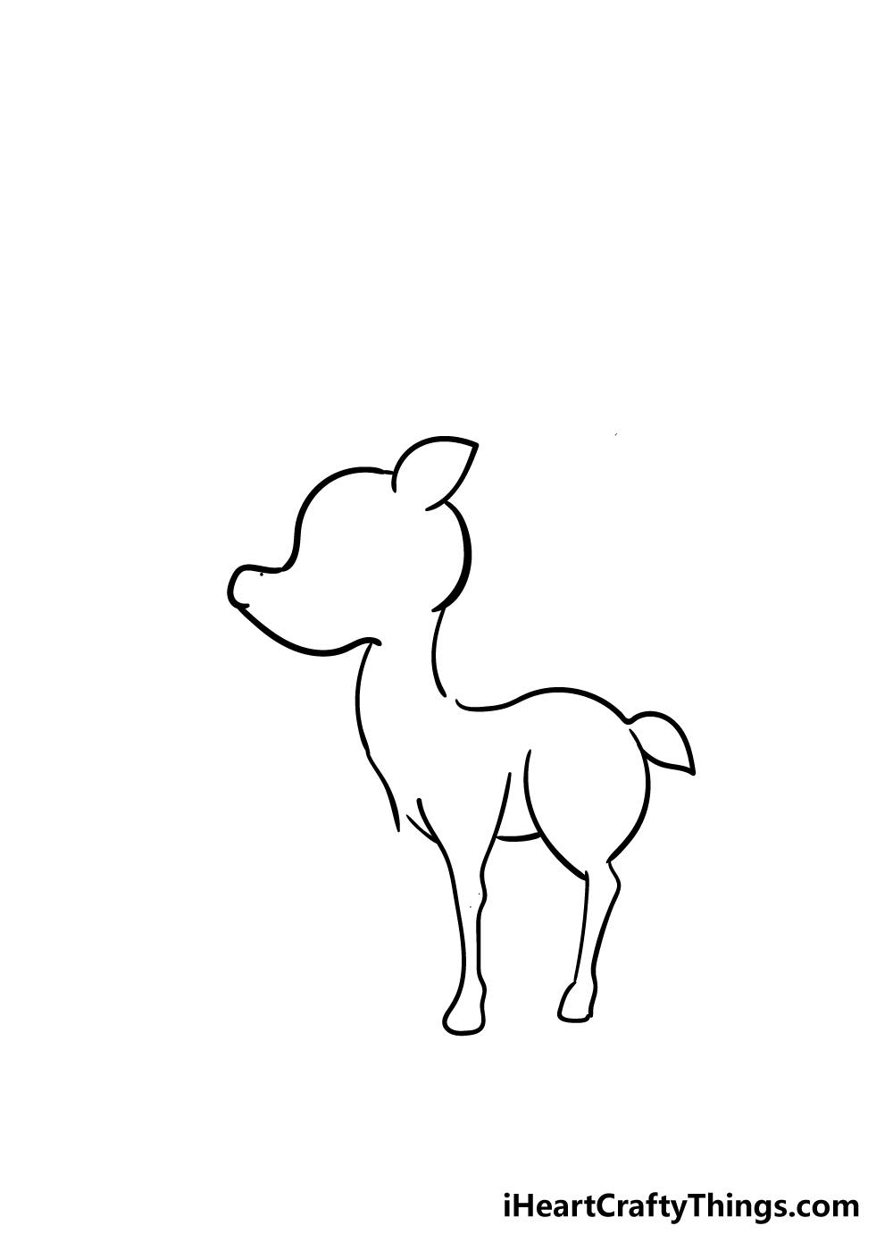 reindeer drawing step 3