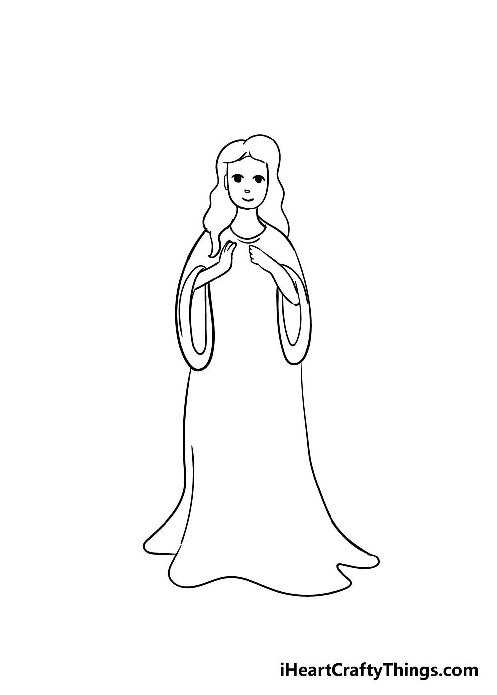 angel drawing step 3