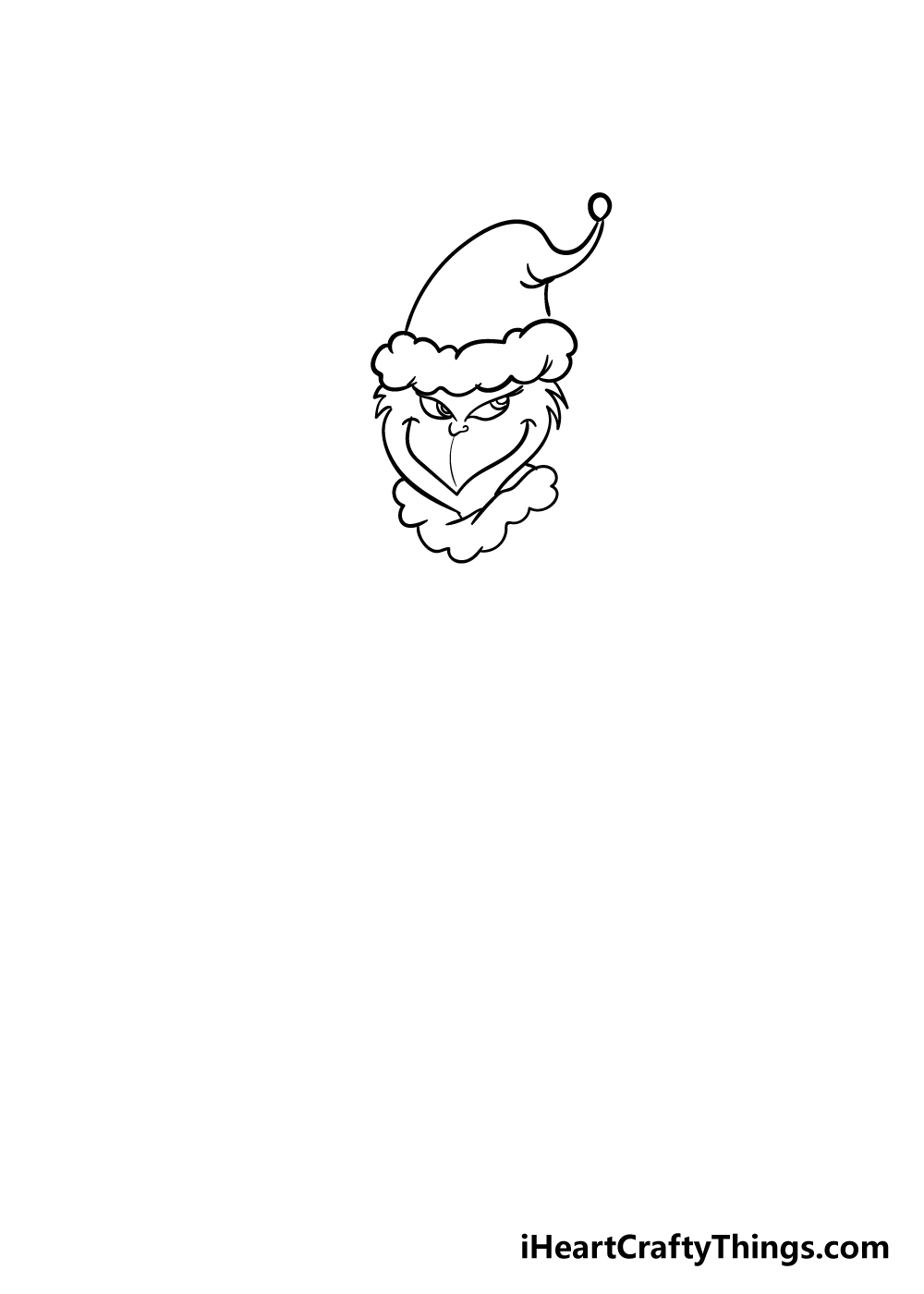 grinch drawing step 3
