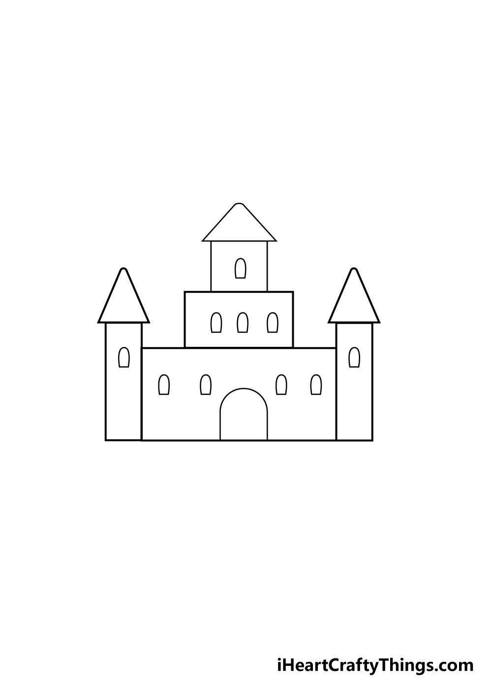 castle drawing step 3