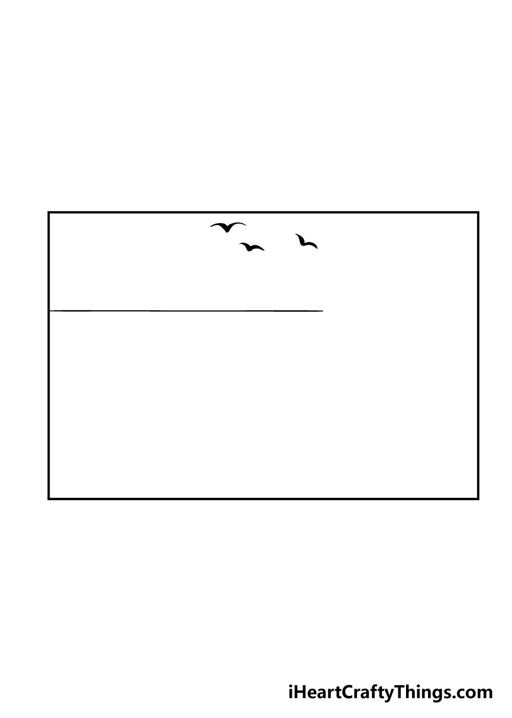 beach drawing step 3