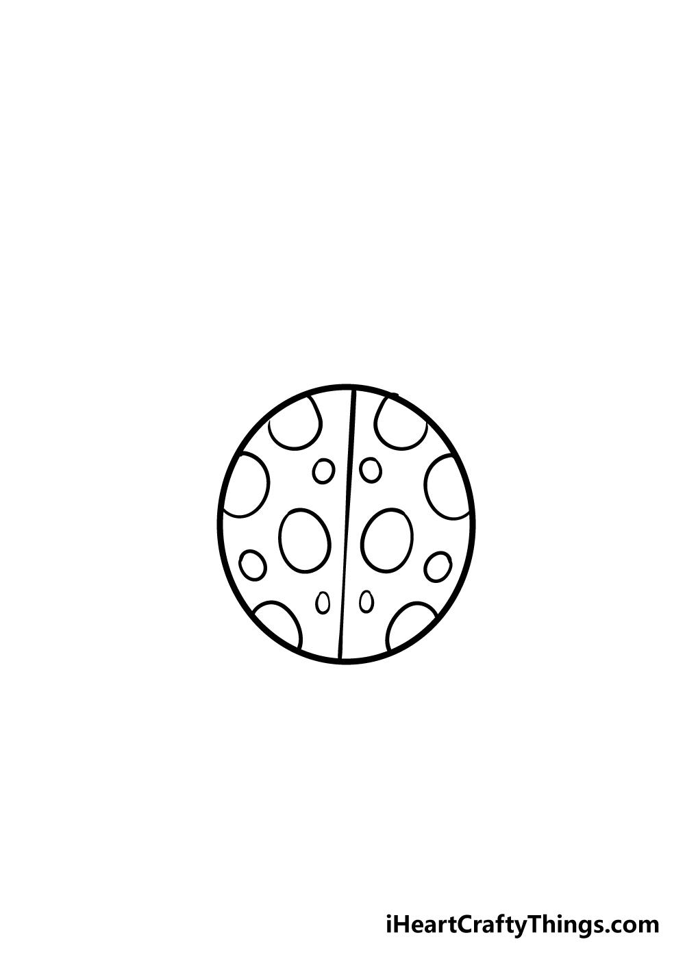 ladybug drawing step 3