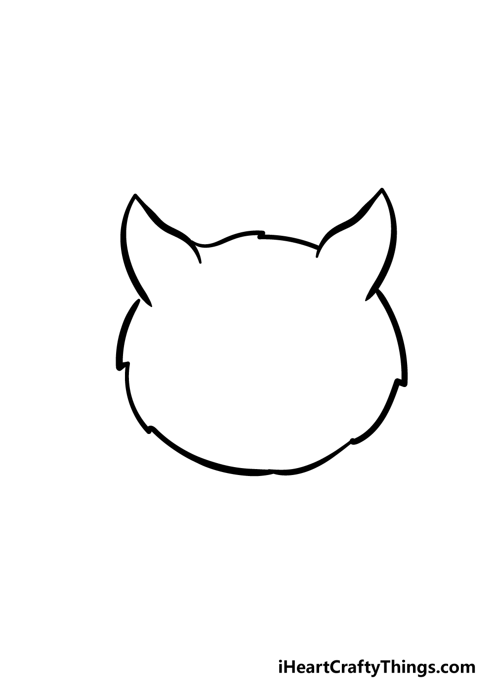 cat face drawing step 3