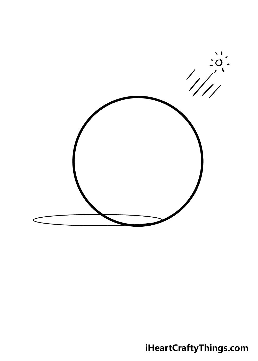 sphere drawing step 3