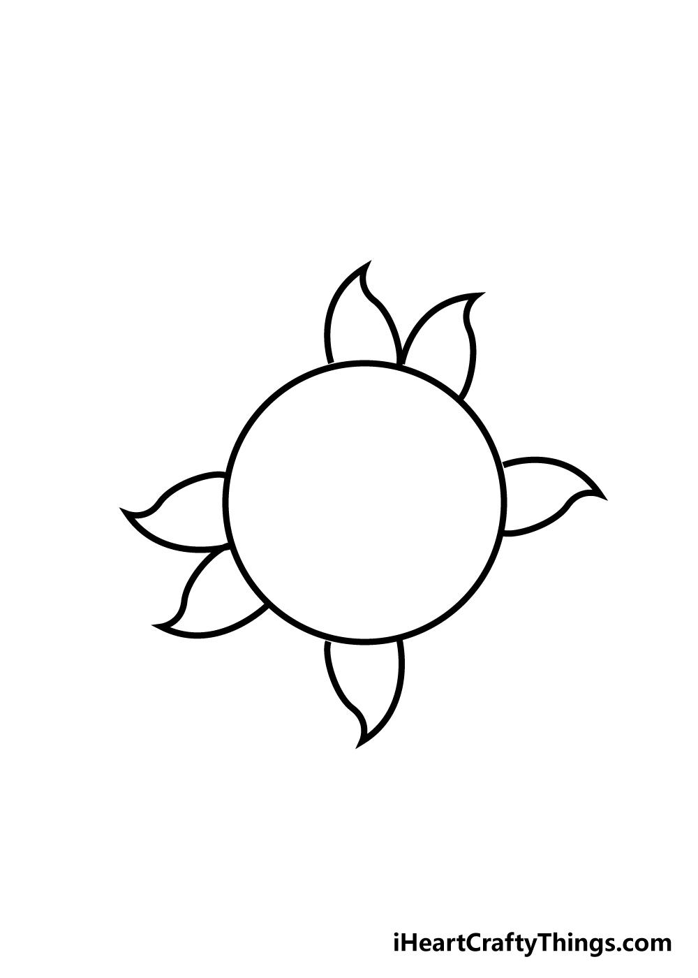sun drawing step 3