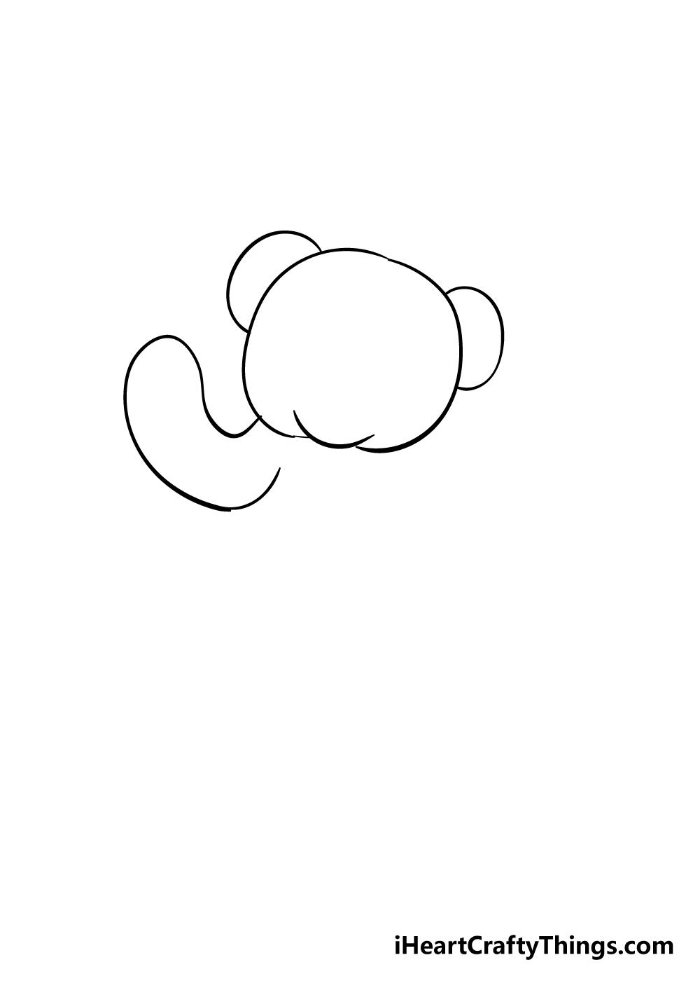 teddy bear drawing step 3