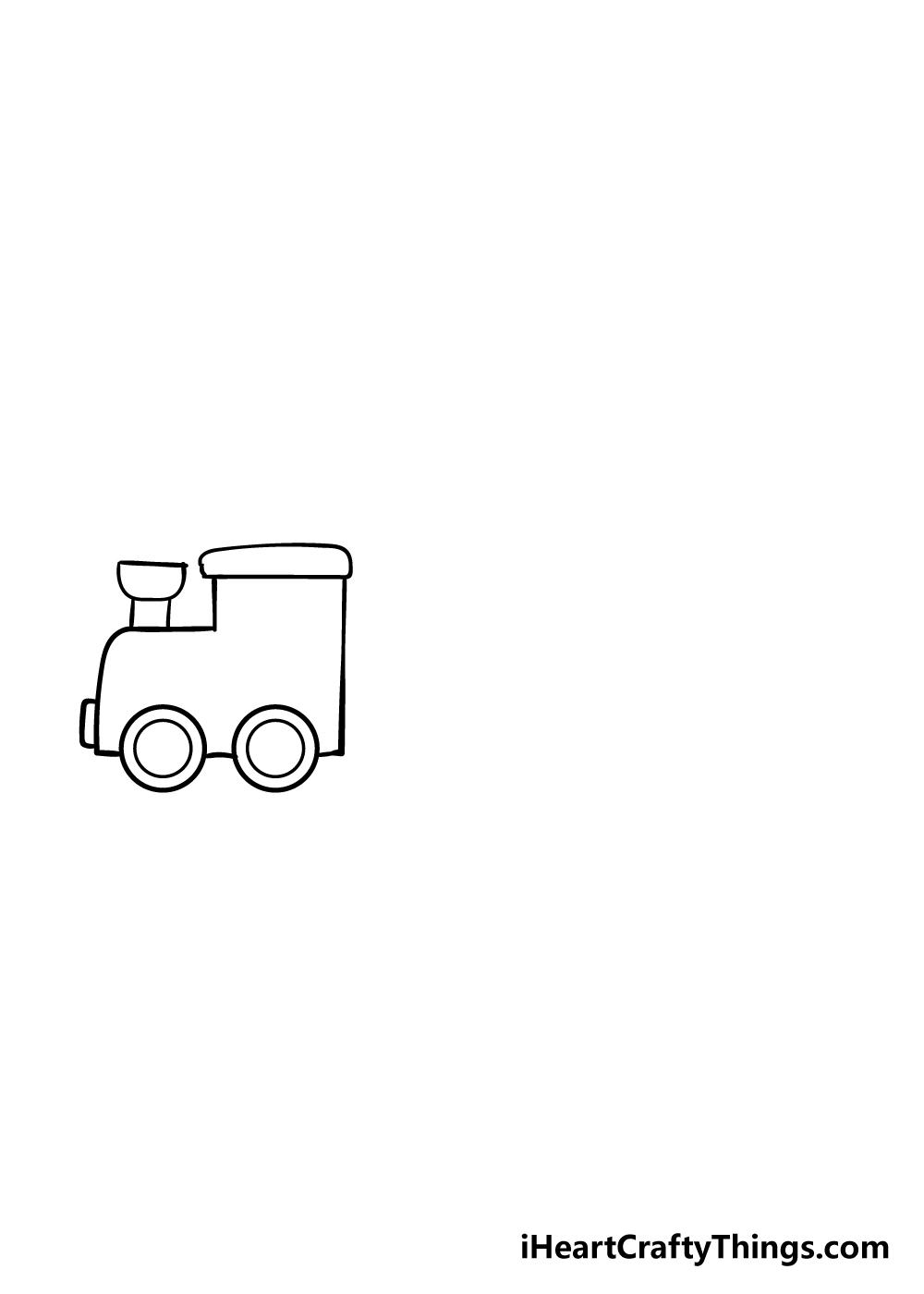 train drawing step 3