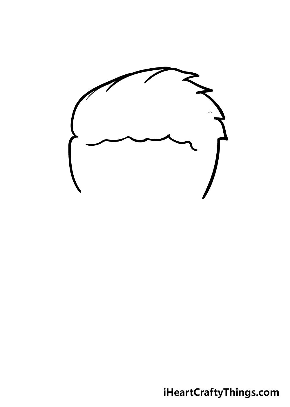 boy's hair drawing step 3