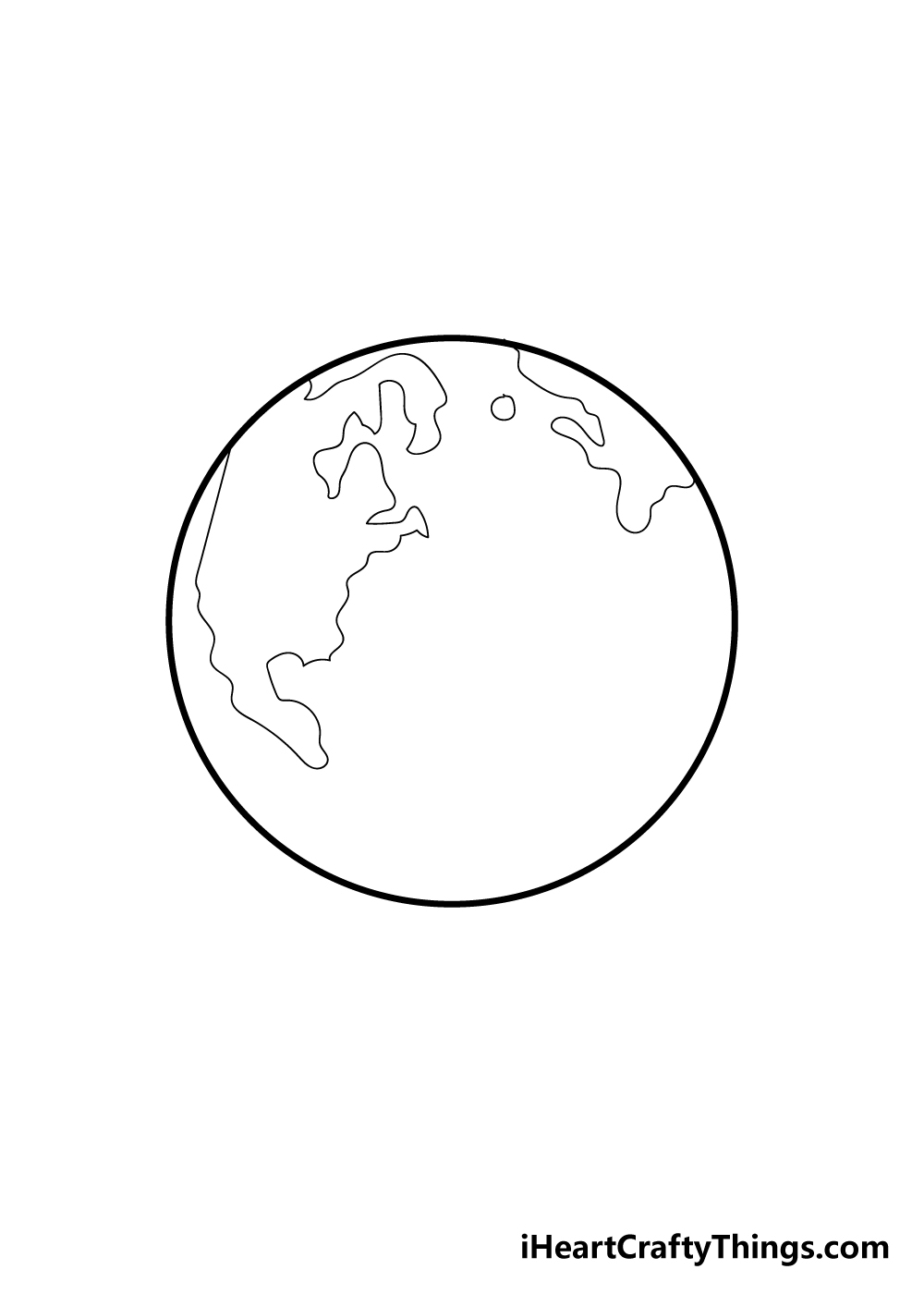 earth drawing step 3