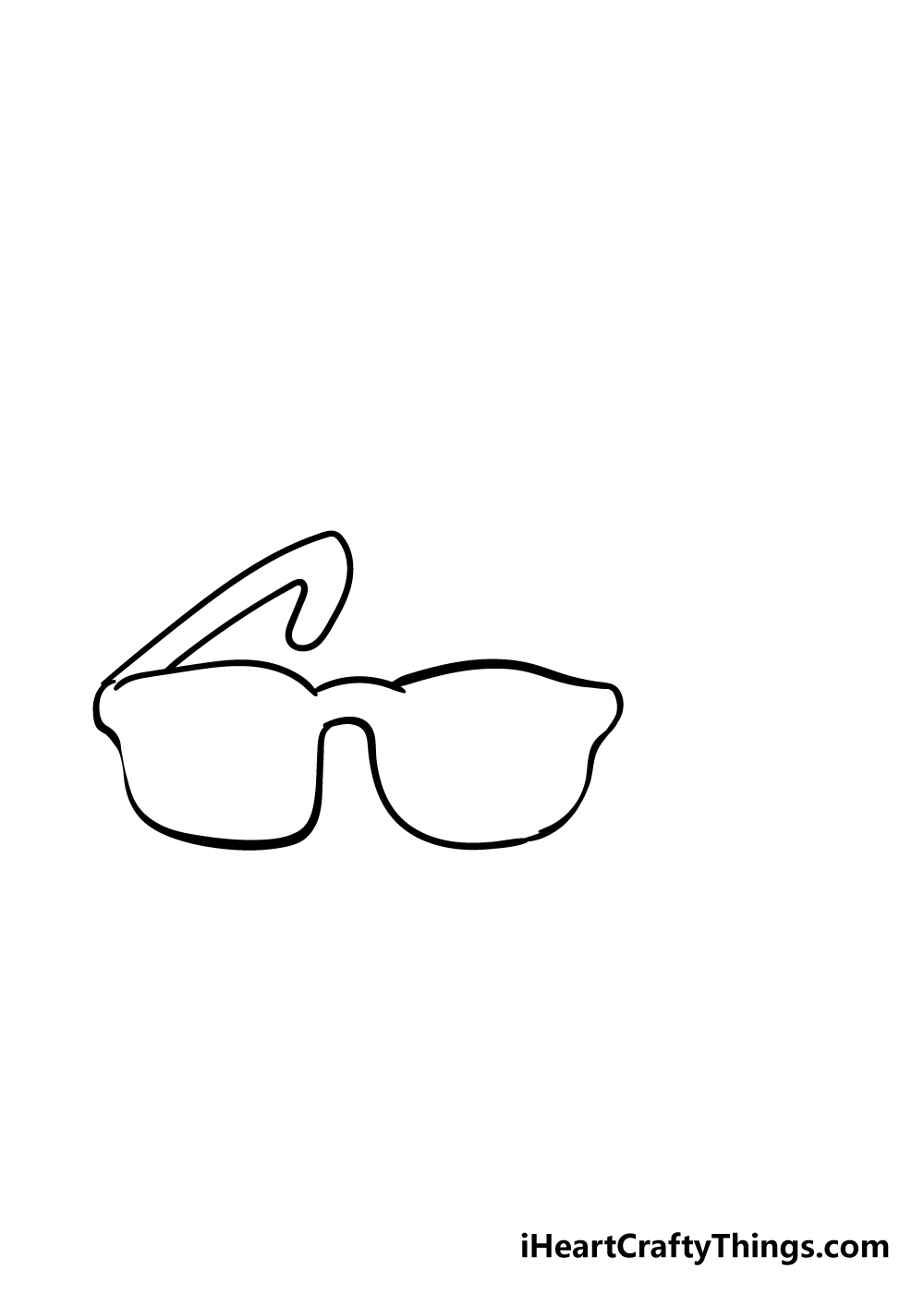 glasses drawing step 3