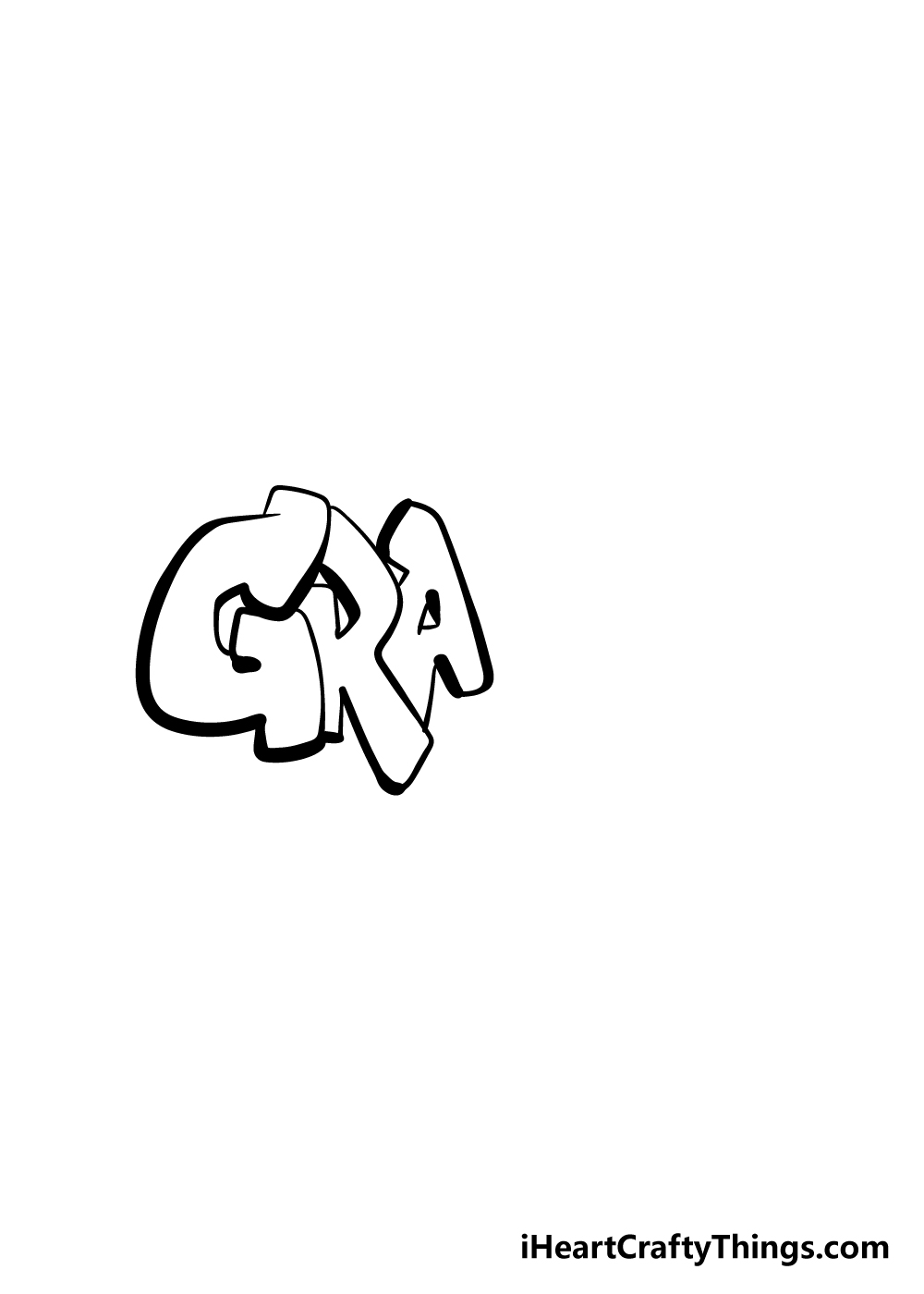 graffiti drawing step 3