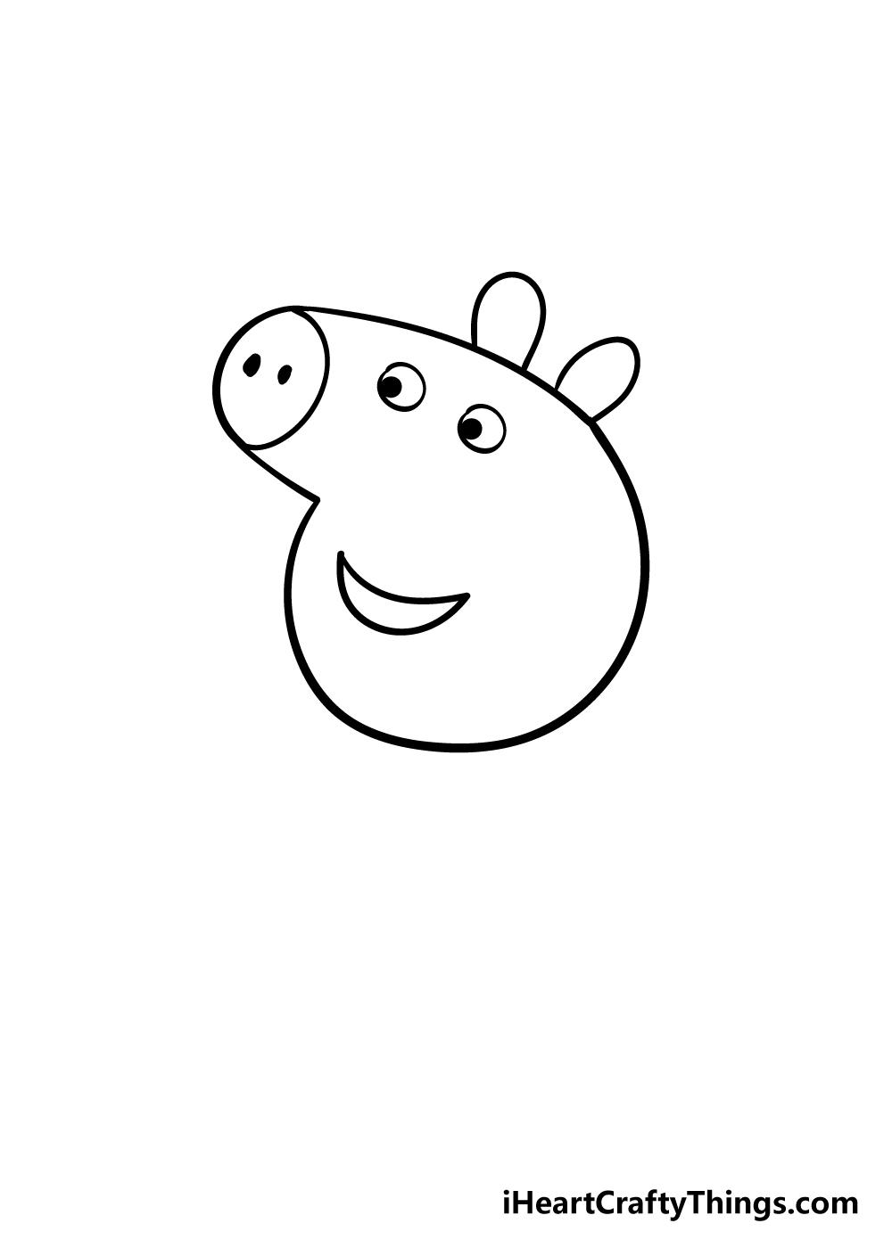 peppa pig drawing step 3