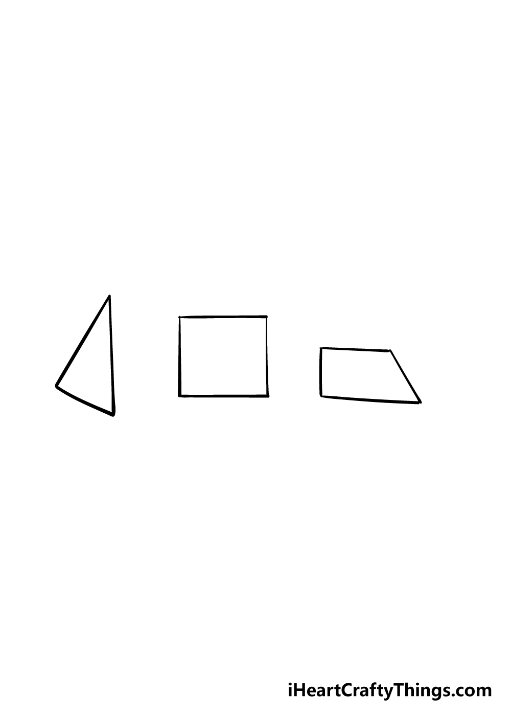 3D shapes drawing step 3