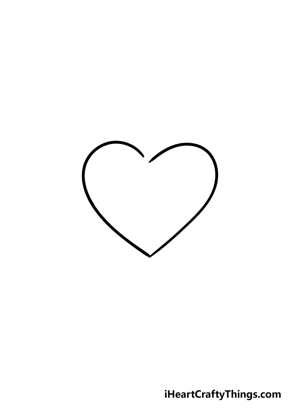 broken heart drawing step 3