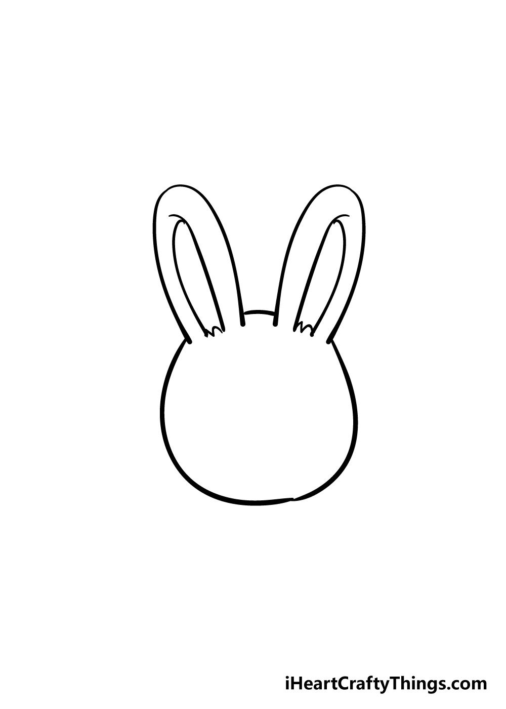 bunny face drawing step 3