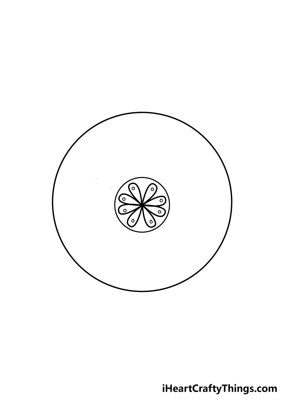 mandala drawing step 3