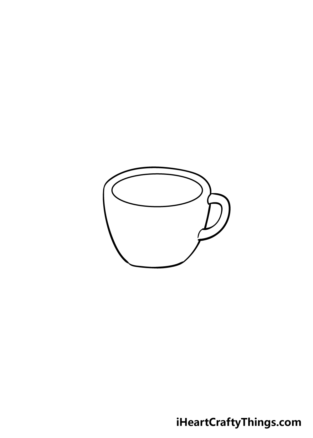 coffee cup drawing step 3