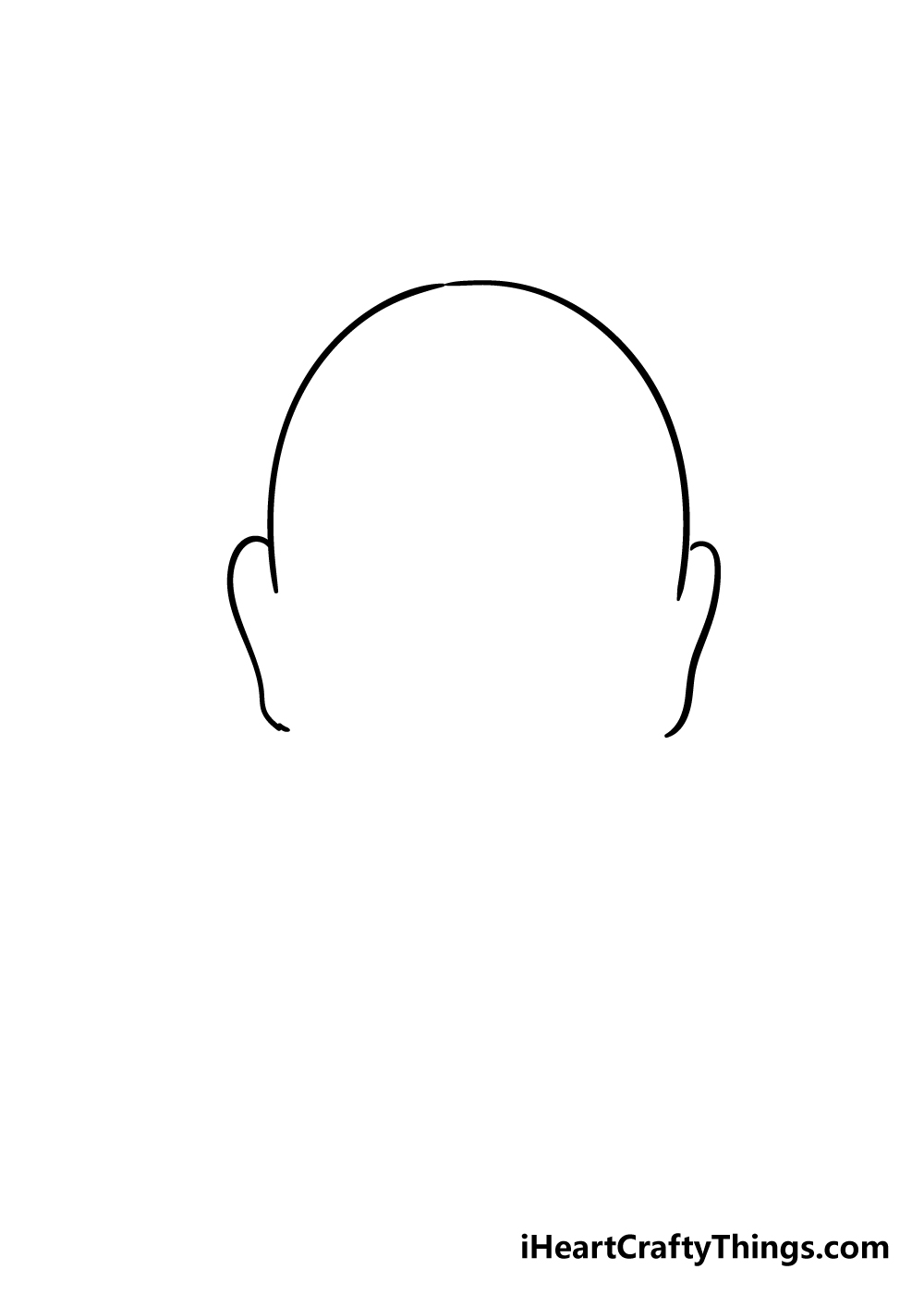 face shape drawing step 3