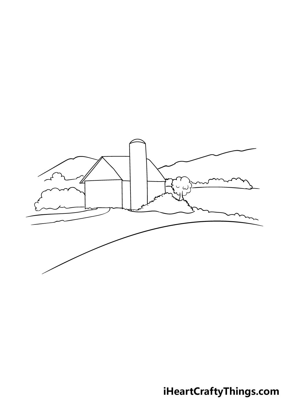farm drawing step 3