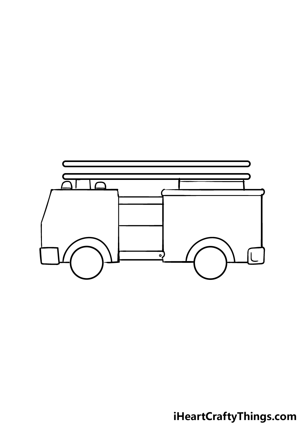 fire truck drawing step 3