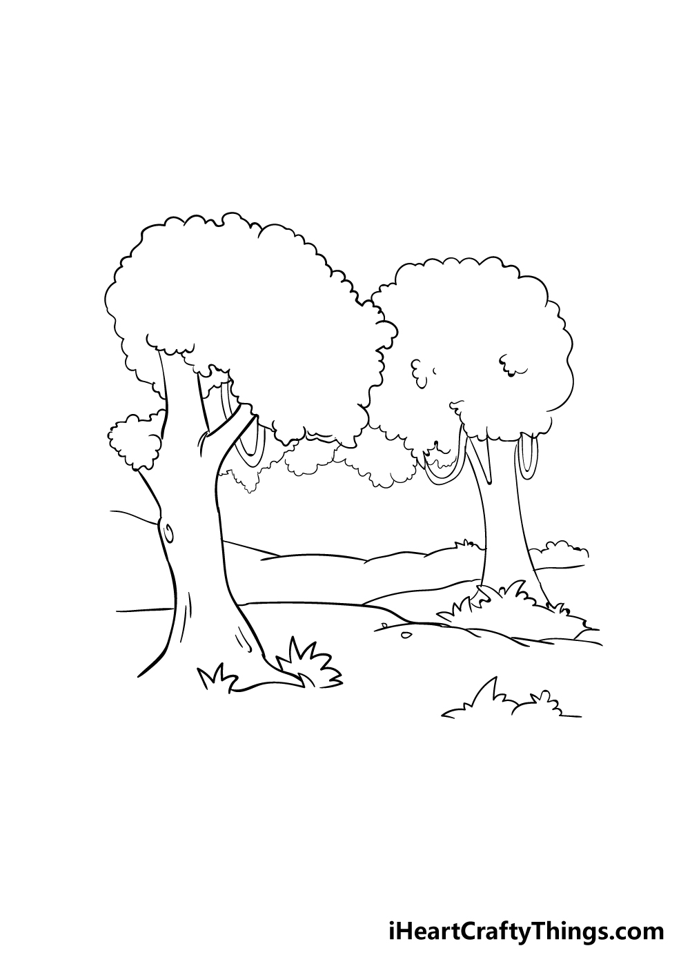 forest drawing step 3