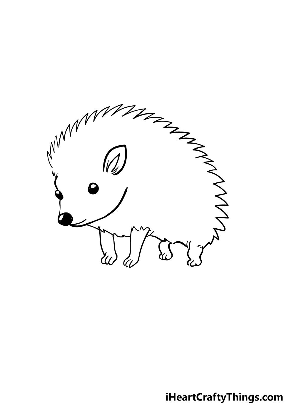 hedgehog drawing step 3