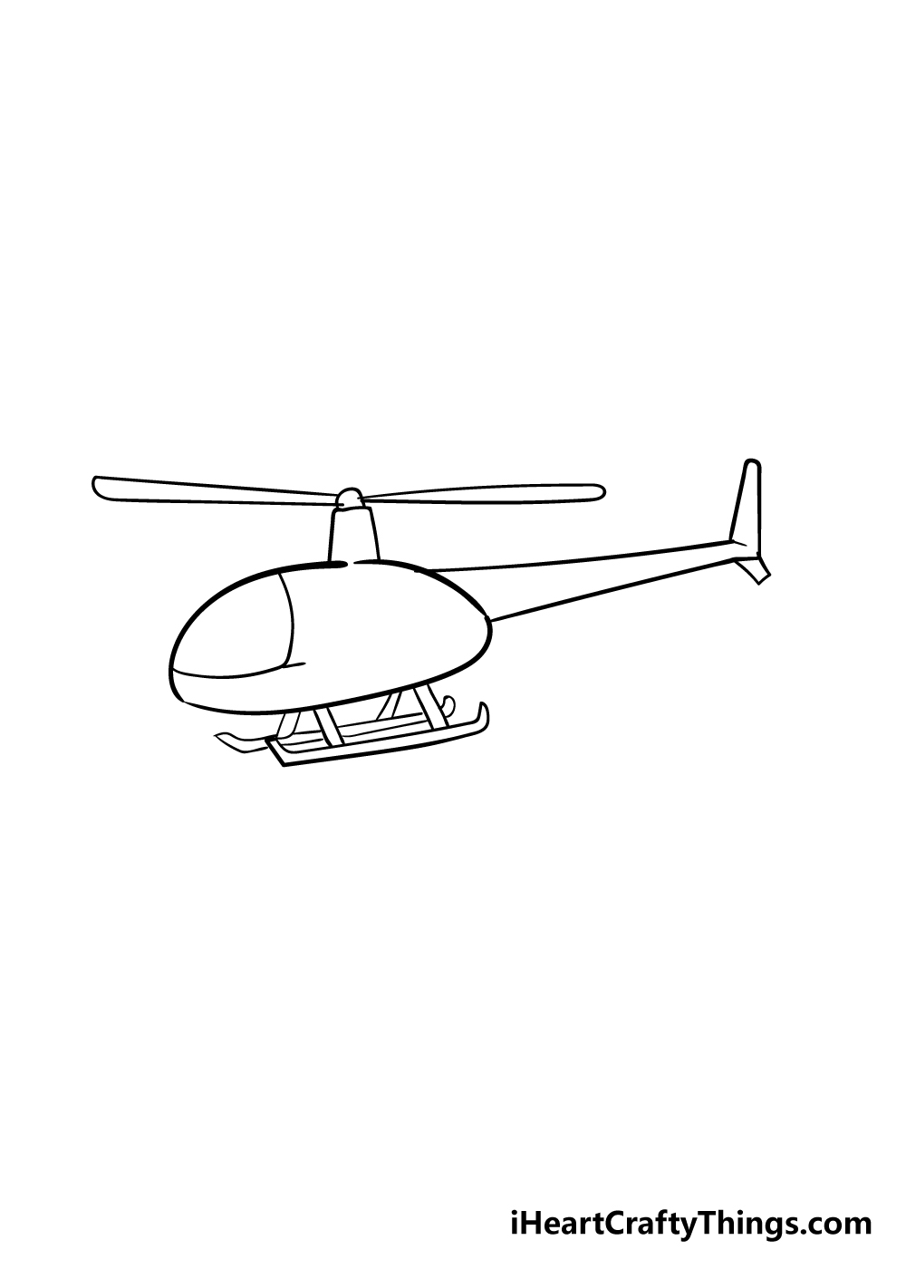 helicopter drawing step 3